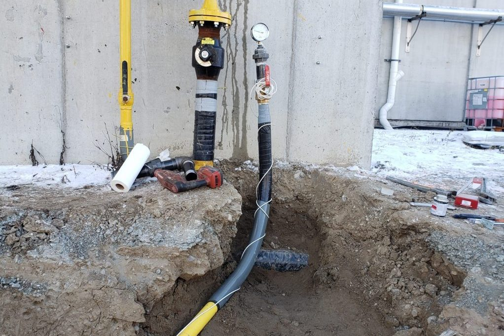 underground gas pipes by Fusion certified technicians in Toronto and GTA